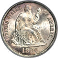 Seated Dimes, 1890-S 10C MS66 PCGS. CAC....