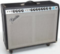 Musical Instruments:Amplifiers, PA, & Effects, 1975 Fender Twin Reverb Black Guitar Amplifier, Serial # D03290...