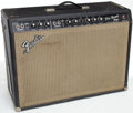 Musical Instruments:Amplifiers, PA, & Effects, 1966 Fender Pro Reverb Black Guitar Amplifier, Serial # A07866...
