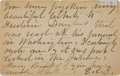 Autographs:Celebrities, [Frederick Douglass] Elizabeth Cady Stanton Autograph PostcardSigned to Susan B. Anthony....