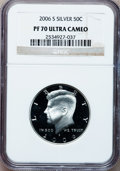 Proof Kennedy Half Dollars, 2006-S 50C Silver PR70 Ultra Cameo NGC. NGC Census: (0). PCGSPopulation (109). Numismedia Wsl. Price for problem free NGC...