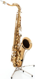 Musical Instruments:Horns & Wind Instruments, 1953 Selmer Super Action Brass Tenor Saxophone, Serial # 53104....