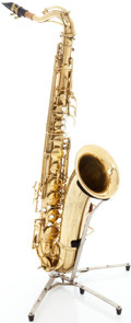 Musical Instruments:Horns & Wind Instruments, 1940s C.G. Conn 10M Naked Lady Brass Tenor Saxophone, Serial #338764....