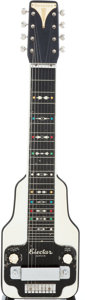 Musical Instruments:Lap Steel Guitars, 1930's Epiphone Electar Zephyr Black Lap Steel Guitar, #2878....