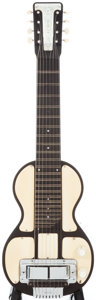Musical Instruments:Lap Steel Guitars, 1940's Rickenbacher Electro Black Lap Steel Guitar, Serial #2089171....