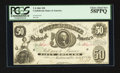 Confederate Notes:1861 Issues, T8 $50 1861 PF-8 Cr. 19.. ...