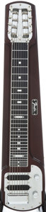 Musical Instruments:Lap Steel Guitars, 1965 Fender Stringmaster Dark Walnut Stain Lap Steel Guitar,#2787....