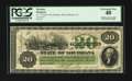 Obsoletes By State:Louisiana, New Orleans, LA- State of Louisiana $20 April 20, 1866 Cr. 27 CC. ...
