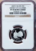 Proof Statehood Quarters, 2009-S 25C Statehood Quarter Silver PR70 Ultra Cameo Six-Pieces set . This Set Include: 2009-S 25C Dist. of Col. Silver PR... (Total: 6 coins)