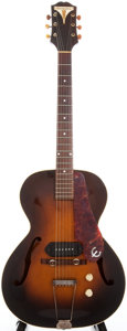 Musical Instruments:Electric Guitars, Circa 1949 Epiphone Kent Sunburst Semi-Hollow Body Electric Guitar,Serial # 3064....
