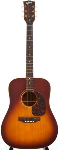 Musical Instruments:Acoustic Guitars, 1968/1969 Gibson J-45 Sunburst Acoustic Guitar, #919708....