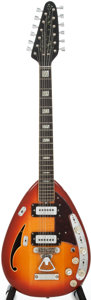 Musical Instruments:Electric Guitars, Circa: Late 1960's Vox Starstream-12 Sunburst Semi-Hollow BodyElectric Guitar, #375699....