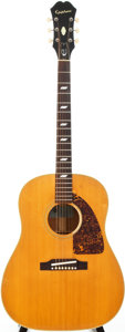 Musical Instruments:Acoustic Guitars, 1967 Epiphone Texan Natural Acoustic Guitar, #097997....