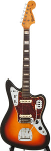 Musical Instruments:Electric Guitars, 1967 Fender Jaguar Sunburst Solid Body Electric Guitar, #177918....