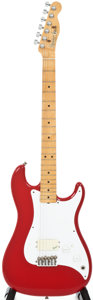Musical Instruments:Electric Guitars, Circa: 1981 Fender Bullet Red Electric Guitar, #E112336....