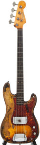 Musical Instruments:Bass Guitars, 1962 Fender Precision Bass Sunburst Electric Bass Guitar, #91320....