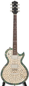 Musical Instruments:Electric Guitars, Alden Blues Line Abalone Tile Top Solid Body Electric Guitar...