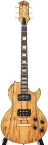 Musical Instruments:Electric Guitars, Recent Alden Blues Line Light Spalted Maple Solid Body ElectricGuitar...