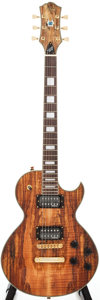 Musical Instruments:Electric Guitars, Recent Alden Blues Line Dark Spalted Maple Solid Body ElectricGuitar...