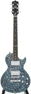 Musical Instruments:Electric Guitars, Recent Alden Blues Line Blue Abalone Solid Body Electric Guitar...