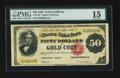 Large Size:Gold Certificates, Fr. 1197 $50 1882 Gold Certificate PMG Choice Fine 15.. ...