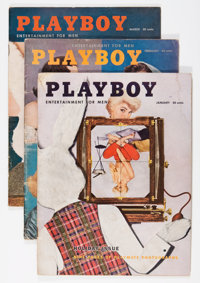 Playboy 1956 Group (HMH Publishing, 1956). Condition: Average VG.... (Total: 12 Items)