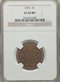 Two Cent Pieces, 1872 2C VF35 NGC....