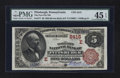 National Bank Notes:Pennsylvania, Pittsburgh, PA - $5 1882 Brown Back Fr. 477 The Fort Pitt NB Ch. #(E)2415. ...