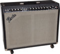 Musical Instruments:Amplifiers, PA, & Effects, 1981 Fender Twin Reverb Black Guitar Amplifier, Serial # F115725...
