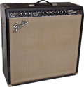 Musical Instruments:Amplifiers, PA, & Effects, 1964 Fender Super Reverb Black Guitar Amplifier, Serial # A05190...