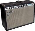 Musical Instruments:Amplifiers, PA, & Effects, 1969/1970 Fender Deluxe Reverb Black Guitar Amplifier, Serial # A30146...