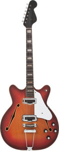 Musical Instruments:Electric Guitars, 1967 Fender Coronado II Sunburst Semi-Hollow Body Electric Guitar,#201346....
