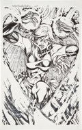 Original Comic Art:Splash Pages, Adriana Melo and Mariah Benes Ms. Marvel #28 Splash Page 11Original Art (Marvel, 2008)....