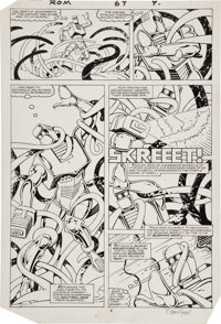 Steve Ditko and P. Craig Russell Rom #64 Page 4 Original Art (Marvel, 1985)