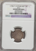 Early Dimes, 1798/97 10C 13 Stars on Reverse -- Damaged -- NGC Details. Good.JR-2, R.6....