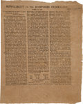 Miscellaneous:Newspaper, Supplement to the Hampshire Federalist....