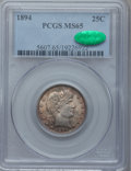 Barber Quarters, 1894 25C MS65 PCGS. CAC....