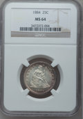 Seated Quarters, 1884 25C MS64 NGC....