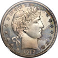 Proof Barber Half Dollars, 1912 50C PR67 NGC....