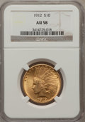 Indian Eagles: , 1912 $10 AU58 NGC. NGC Census: (750/5199). PCGS Population(641/3691). Mintage: 405,083. Numismedia Wsl. Price for problem ...