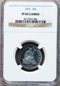 Proof Seated Quarters, 1876 25C PR65 Cameo NGC....