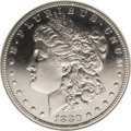 Proof Morgan Dollars: , 1880 $1 PR64 Cameo NGC. Crisply struck with dark, watery fields and elegantly frosted motifs....