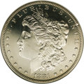 Proof Morgan Dollars: , 1881 $1 PR65 NGC. A glassy, fully struck, and virtually untoned piece, this highly attractive...