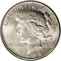Peace Dollars: , 1922-S $1 MS66 NGC. Although the central obverse and reverse areslightly weak, this Premium ...