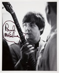 Music Memorabilia:Autographs and Signed Items, Beatles Related - Paul McCartney Signed Photo plus Candids....(Total: 11 )
