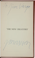 Music Memorabilia:Autographs and Signed Items, The Doors: Jim Morrison Signed Poetry Book - The NewCreatures (1969). ...