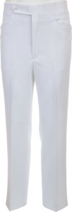 Music Memorabilia:Costumes, Elvis Presley Owned and Worn White Pants (Lansky's, late 1960s)....