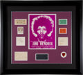 Music Memorabilia:Posters, Jimi Hendrix Experience Handbill, Ticket Stub and Autograph Group(1969)....