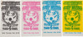 "Music Memorabilia:Tickets, Jimi Hendrix/John Mayall ""Flying Eyeball"" Fillmore/WinterlandConcert Ticket Group (Bill Graham, 1968).... (Total: 4 Items)"