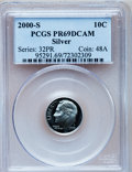 Proof Roosevelt Dimes: , 2000-S 10C Silver PR69 Deep Cameo PCGS. PCGS Population (4014/341).NGC Census: (2522/1018). Numismedia Wsl. Price for pro...